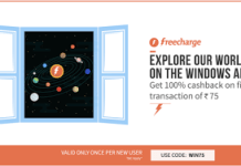 freecharge  cashback on recharges WIN
