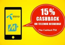 mobikwik telenor loot  cashback offer