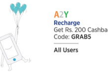 paytm GRAB  cashback on recharges