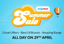 Snapdeal summer sale abhiyou