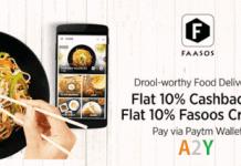 faasos  cashback paytm  cashback faasos wallet