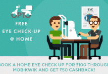 lenskart free home eye checkup loot