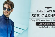 CrownIt flat  cashback on Park Avenue coupons
