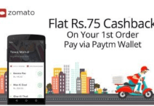 paytm zomato  cashback offer