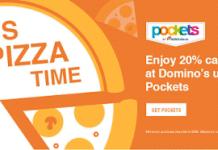 pockets  cashback on dominos pizza