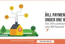 freecharge  cashback on bill payments new users