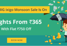 ixigo flights sale loot offer