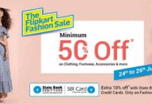 the flipkart fashion sale loot offer