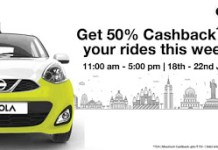 OLA  cashback lean Hour Blog offer