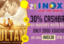 crownit sultan movie  cashback inox gift voucher