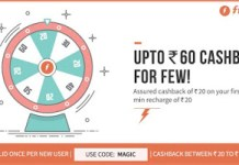 freecharge magic new users upto rs cashbck