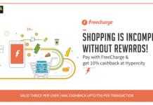 freecharge  cashback at hypercity HC FC offer