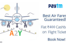 paytm rs cashback on flights