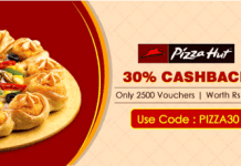 crownit pizzahut  cashback offer loot