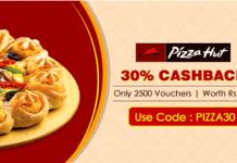 crownit pizzahut  cashback offer loot