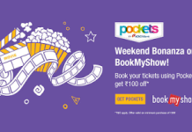 bookmyshow pockets movies  off loot