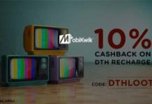 mobikwik  cashback at dth recharges