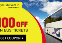 mybustickets Rs  flat off on bus booking