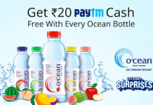 paytm cash ocean water