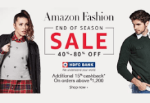amazon fashion   hdfc bank