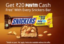 snicker PAYTM