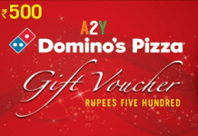 dominos pizza  off offer gift cards