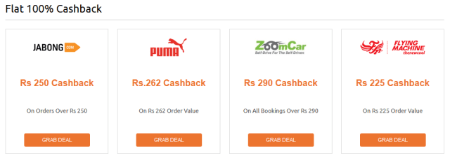 Get Flat 100% Cashback Deals from Cashkaro - [Redeem to Bank]