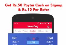 ND App: Get Rs.50 Paytm Cash on Signup & Rs.10/Refer