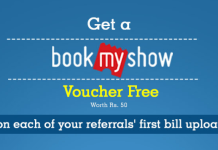 [Loot] Refer & Get Rs.50 Free BookMyShow Voucher on Your Referrals