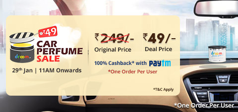 Droom - Get Car Perfume at Rs 21 only on 14th Nov (11AM)