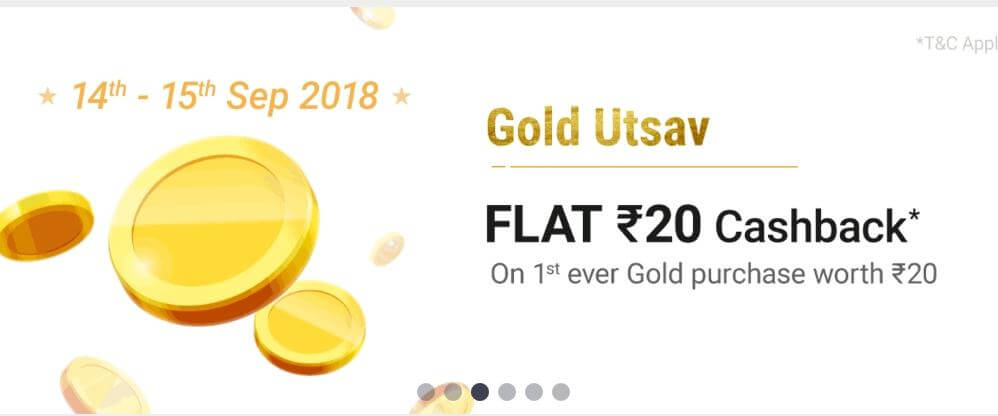 (New Script Added) Paytm NEW40 Free Gold Loot- Get Rs 40 Gold Free (New Users)