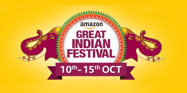 Amazon Great Indian Festival Sale Offers & Handpicked Deals (10th-15th Oct)