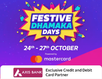 (Live) Flipkart Festive Dhamaka Days Offers/Deals (24th - 27th Oct)