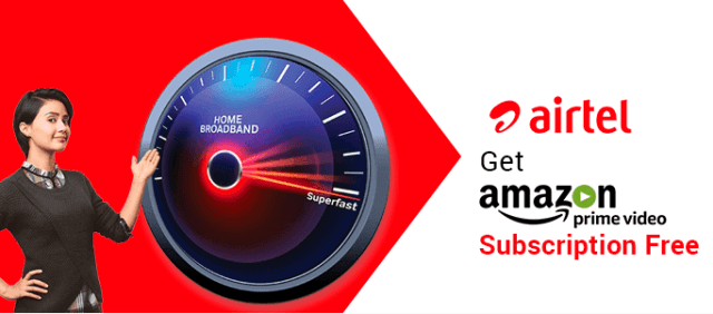 Airtel Broadband Amazon Prime Offer
