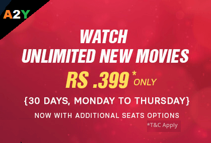 Unlimited Movies at Rs199