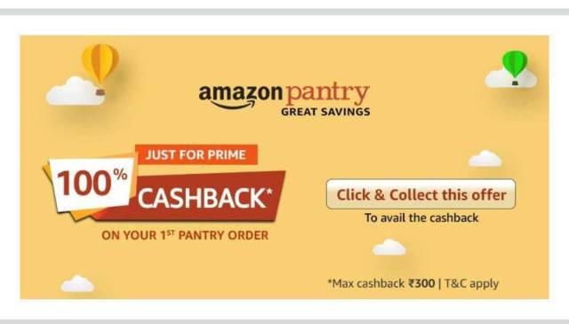 Amazon Pantry 100% Cashback