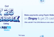 Zingoy Paytm Cashback Offer