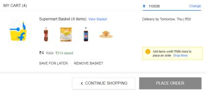Flipkart Supermart Grocery Offer