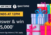 Amazon Quiz 22nd March Answers