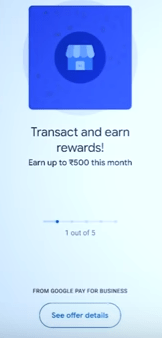 Google Pay Merchant Account reward