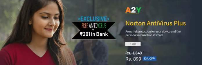 Norton Antivirus Loot Free Rs 201