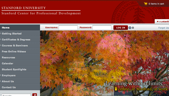 Download course videos from Stanford Center for Professional