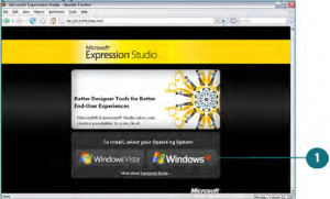 Insert the Microsoft Expression Studio CD into your drive