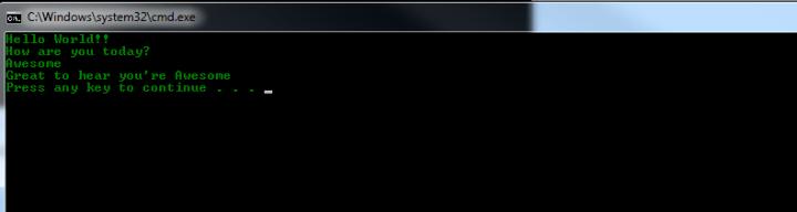 Console Screen