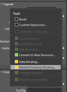 Expression Blend 4 : Element Property Binding Two Way