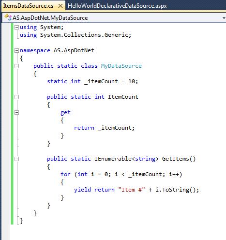 ASP.NET Declarative Data Binding