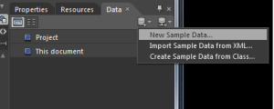 Expression Blend 4 : Add new Sample Data