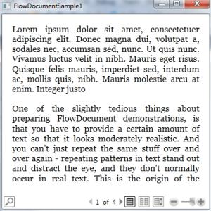 WPF FLowDocumentPageViewer