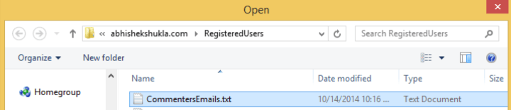 Select Emails To Verify