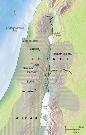 Samaria estava localizada sobre uma colina de 91 metros de altura, a 67 quilômetros ao norte de Jerusalém. Situada a meio caminho do Jordão ao Mediterrâneo